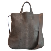 Rk New York Ostrich Tote Bag Brown