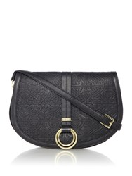 Biba Jacey Emboss Crossbody Bag Black