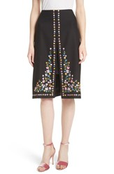 Ted Baker 'S London Hampton Print A Line Skirt Black