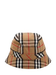 Burberry Vintage Check Cotton Bucket Hat Antique Yellow