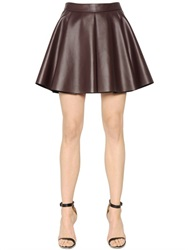 Mrz Pleated Faux Leather Skirt