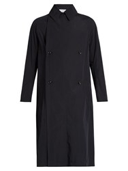 Kolor Double Breasted Oversized Trench Coat Navy