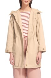 Whistles Hooded Spring Parka Beige