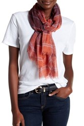 14Th And Union Classic Plaid Scarf Red