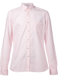 Tomas Maier Casual Button Down Shirt Pink And Purple