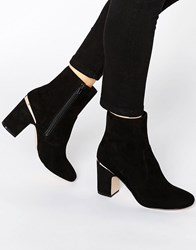 Asos Ramero Metal Detail Ankle Boots Black