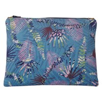 Rosa And Clara Designs Folia Velvet Leather Pouch Gold