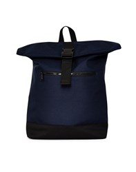 The Idle Man Roll Top Backpack Navy