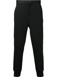 Neil Barrett Elasticated Cuff Stripe Trousers Men Virgin Wool 48 Black