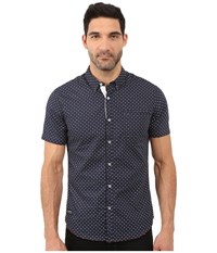 7 Diamonds Dawn Short Sleeve Shirt Navy Men's Short Sleeve Button Up