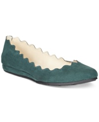 American Rag Erin Scalloped Ballet Flats Only At Macy's Women's Shoes Teal