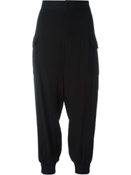 Marni Cropped Tapered Trousers Black