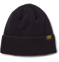 J.Crew Wallace And Barnes Waffle Knit Cotton Beanie Midnight Blue