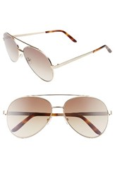 Spektre Women's Domina 60Mm Aviator Sunglasses Gold Gradient Tobacco Gold Gradient Tobacco