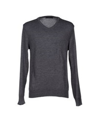 Vneck Sweaters Steel Grey