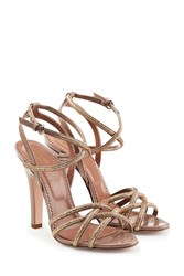 Red Valentino R.E.D. Leather Strappy Sandal Heels