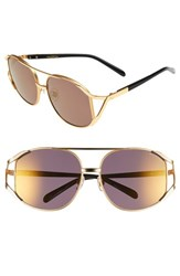 Wildfox Couture Women's Wildfox 'Dynasty Deluxe' 59Mm Retro Sunglasses Gold Tortoise Gold Mirror