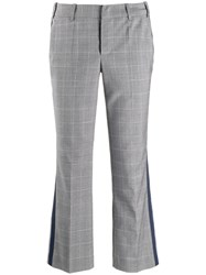 Zadig And Voltaire Check Cropped Trousers Grey