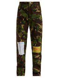 Martine Rose Camouflage Cotton Blend Straight Leg Trousers