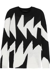 Thakoon Intarsia Linen And Cotton Blend Sweater