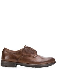 Officine Creative Laceless Oxford Shoes Brown