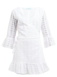 Melissa Odabash Vogue Broderie Anglaise Cotton Wrap Dress White