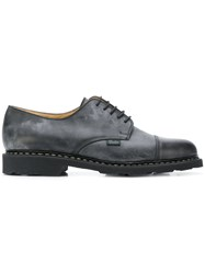 Paraboot Stained Effect Lace Up Shoes Black