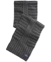 Nautica Men's Ribbed Scarf Granite Heather