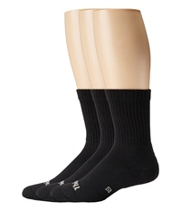 Thorlos Everyday Comfort Crew 3 Pair Pack Black Women's Crew Cut Socks Shoes