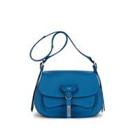 Fontana Milano 1915 Wight Lady Leather Saddle Bag Md. Blue