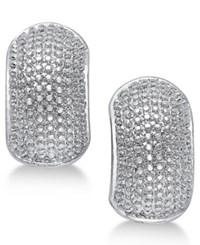 Erwin Pearl Atelier For Charter Club Gold Tone Textured Huggie Earrings Only At Macy's Silver
