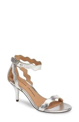 Chinese Laundry Women's 'Rubie' Scalloped Ankle Strap Sandal Silver