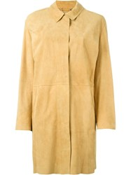 Desa 1972 Buttoned Up Coat Yellow And Orange