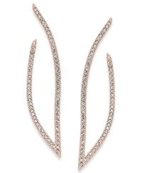 Danori Rose Gold Tone Pave Drop Earrings