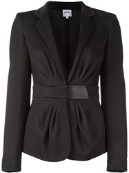 Armani Collezioni Gathered Waist Jacket Black