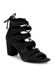 424 Fifth Ladonna Suede Sandals Black