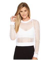 Alo Yoga Summer Time Long Sleeve Top White Women's Clothing