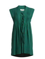 Etoile Isabel Marant Karen Lace Up Sleeveless Mini Dress Green