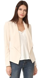 Alice Olivia Francisca Draped Collar Blazer Champagne