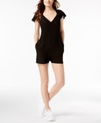 French Connection Open Back Romper Black