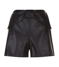 Claudie Pierlot Edmond Bis Faux Leather Shorts Female Black