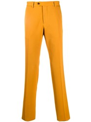 Etro Slim Fit Trousers Yellow