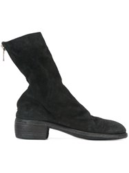 Guidi Back Zip Mid Boots Black