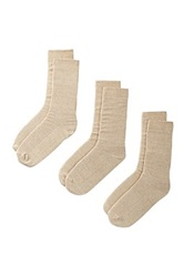Bottoms Out Socks Pack Of 3 Beige
