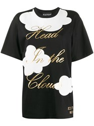 Boutique Moschino Crew Neck Clouds Print T Shirt 60