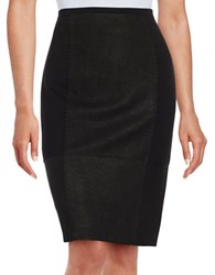 Elie Tahari Leary Lace Up Pencil Skirt Black