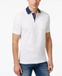 Club Room Men's Dot Trim Performance Polo Only At Macy's Bright Whi