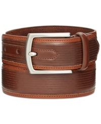 Tasso Elba 35Mm Textured Inlay Belt Only At Macy's