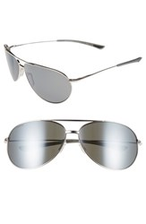 Smith Optics Men's 'Rockford' 65Mm Polarized Aviator Sunglasses Silver