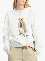 Ralph Lauren Polo Usa Bear Sweatshirt Deckwash White